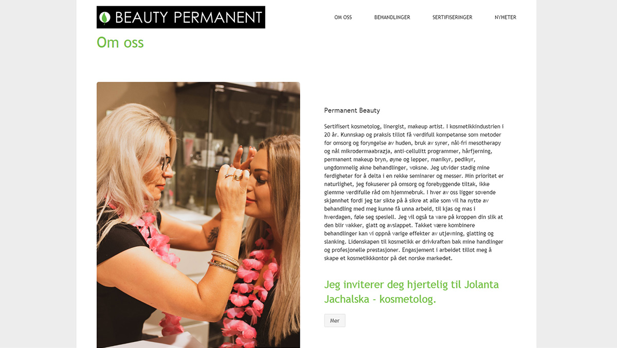 Beauty Permanent - Oslo